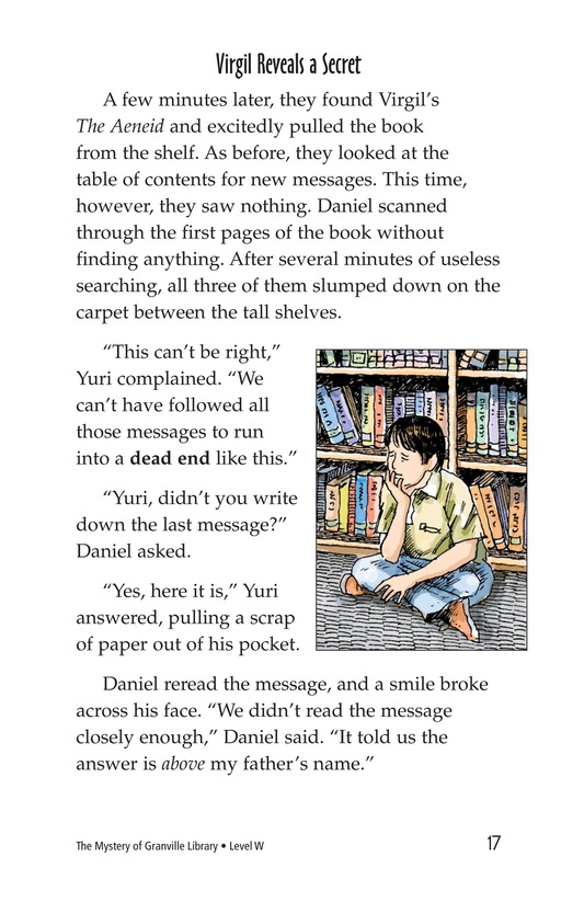 Book Preview For The Mystery of Granville Library Page 17