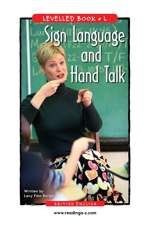 Book Preview For Sign Language and Hand Talk Page 1