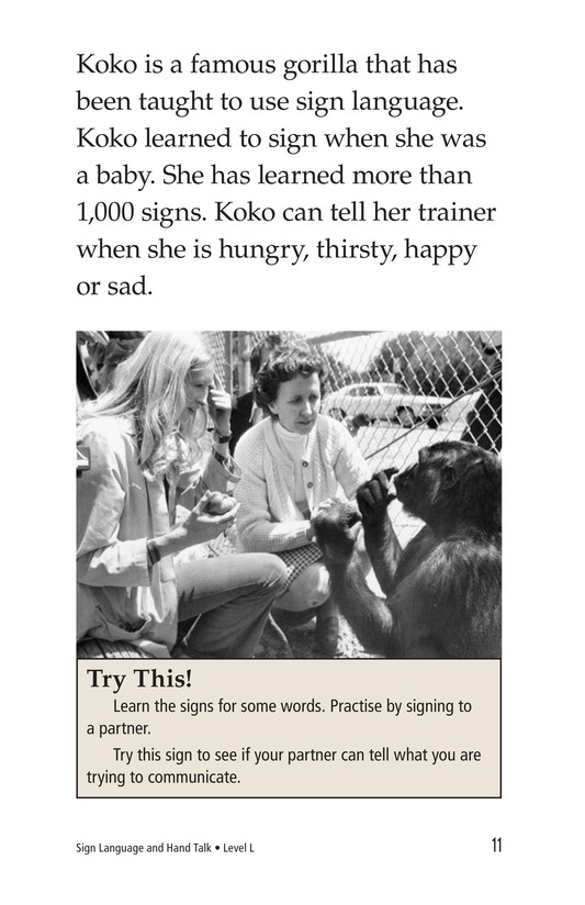Book Preview For Sign Language and Hand Talk Page 11