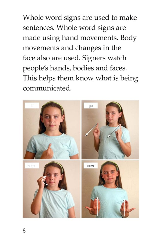 Book Preview For Sign Language and Hand Talk Page 8