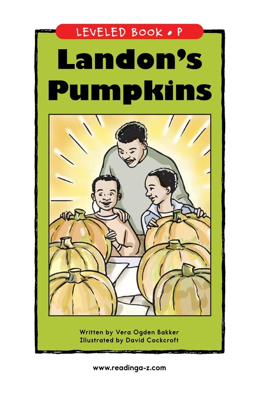Book Preview For Landon's Pumpkins Page 1