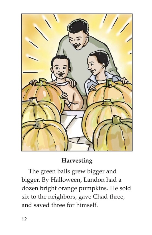 Book Preview For Landon's Pumpkins Page 12