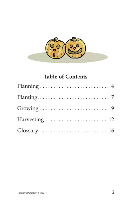 Book Preview For Landon's Pumpkins Page 3