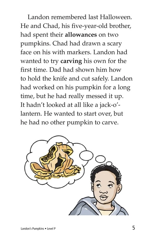 Book Preview For Landon's Pumpkins Page 5