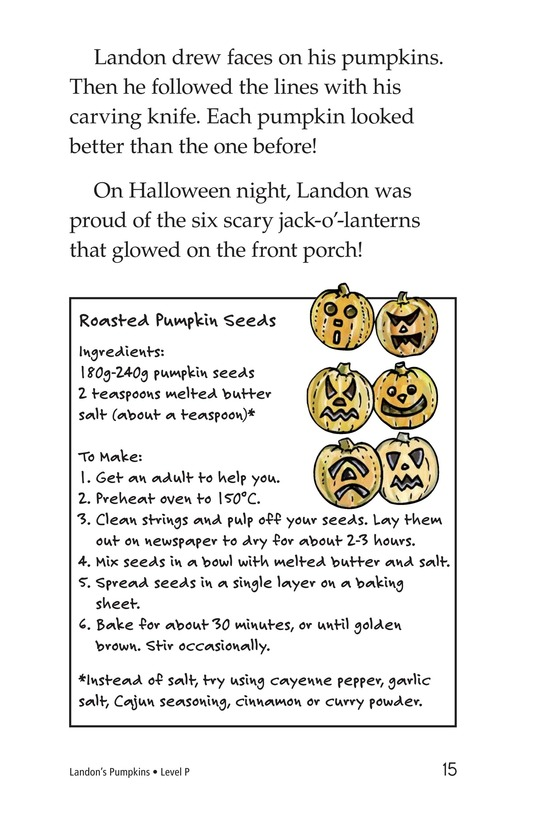 Book Preview For Landon's Pumpkins Page 15