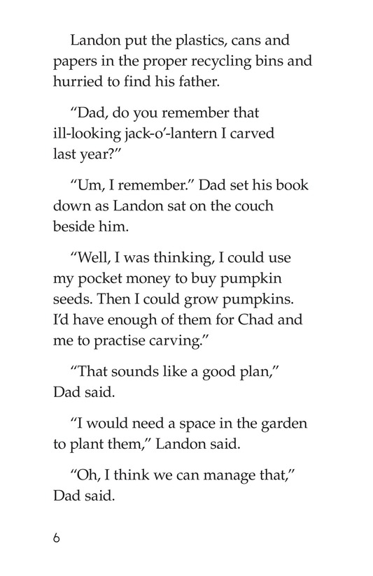 Book Preview For Landon's Pumpkins Page 6