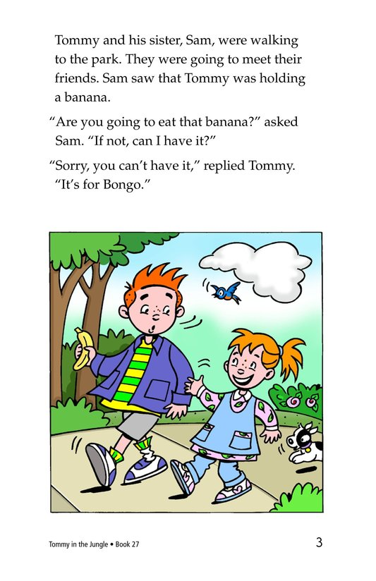Book Preview For Tommy in the Jungle Page 3