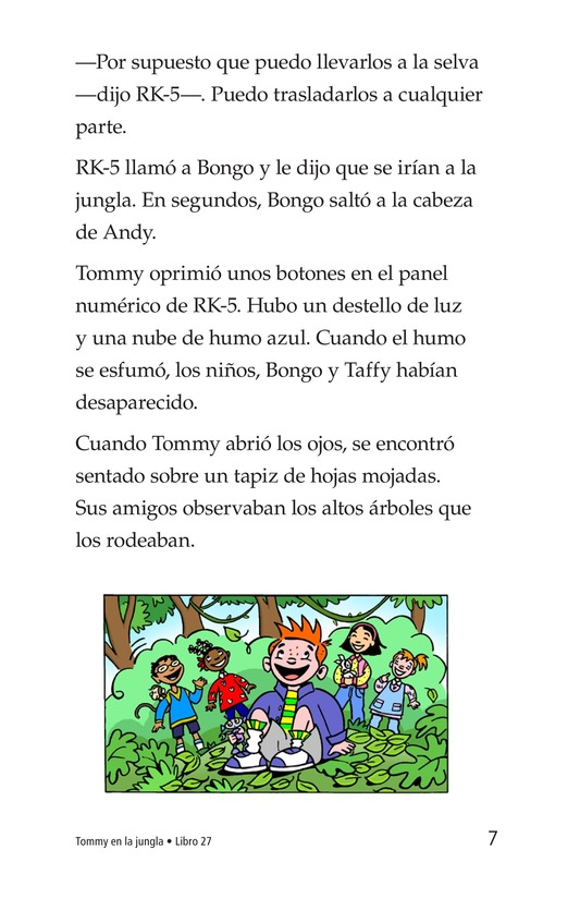 Book Preview For Tommy in the Jungle Page 7