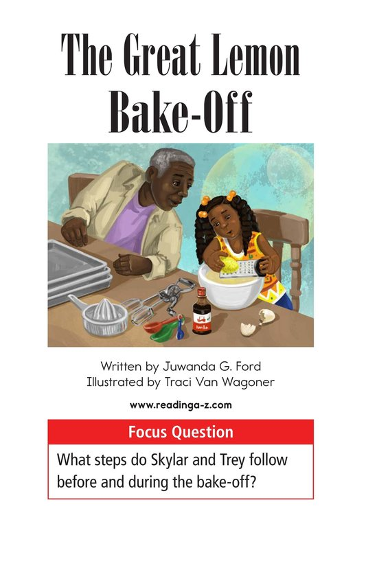 Book Preview For The Great Lemon Bake-Off Page 1