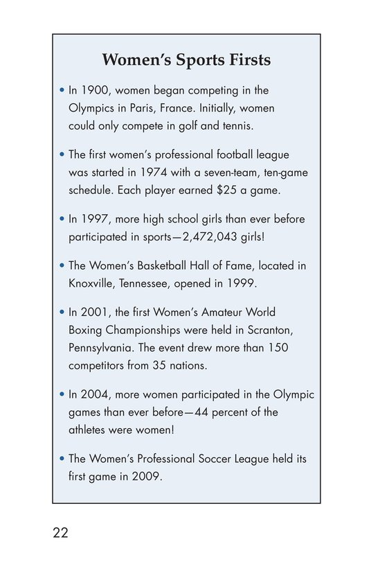 Book Preview For Female Sports Stars Page 22
