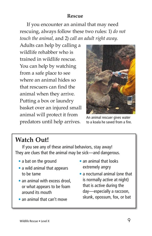 Book Preview For Wildlife Rescue Page 9