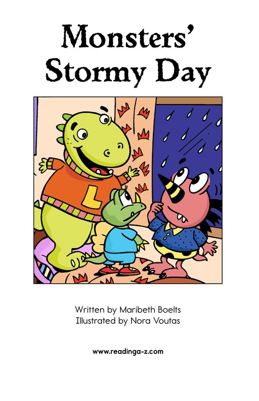 Book Preview For Monsters' Stormy Day Page 2