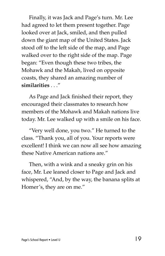 Book Preview For Page's School Report Page 19
