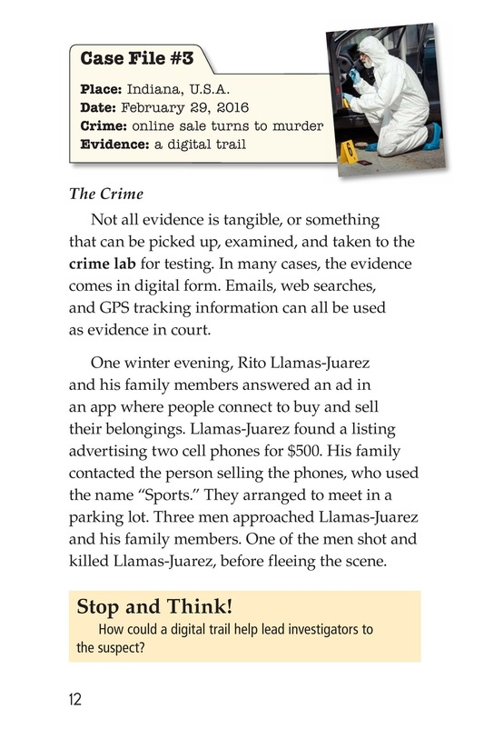 Book Preview For Seeing the Evidence: Forensic Scientists at Work Page 12