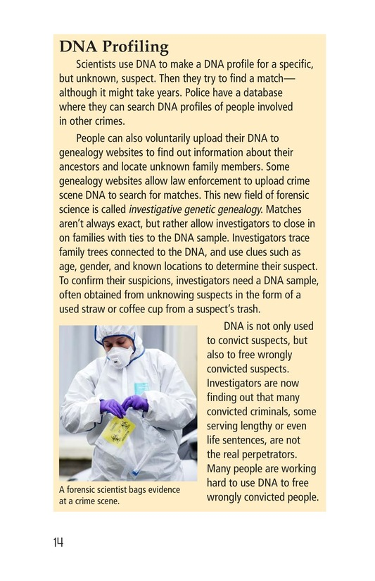 Book Preview For Seeing the Evidence: Forensic Scientists at Work Page 14