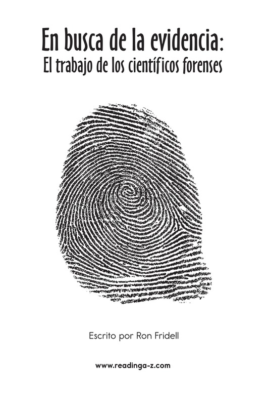 Book Preview For Seeing the Evidence: Forensic Scientists at Work Page 2