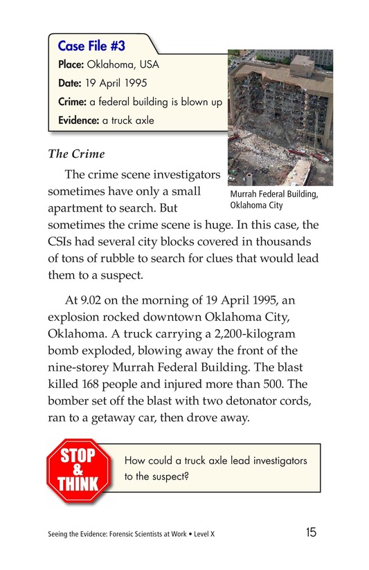 Book Preview For Seeing the Evidence: Forensic Scientists at Work Page 15