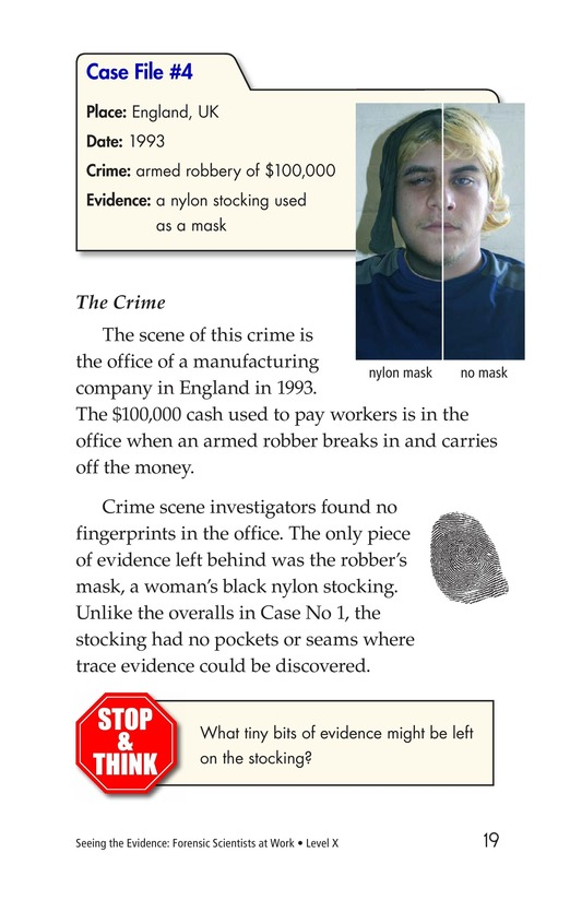 Book Preview For Seeing the Evidence: Forensic Scientists at Work Page 19