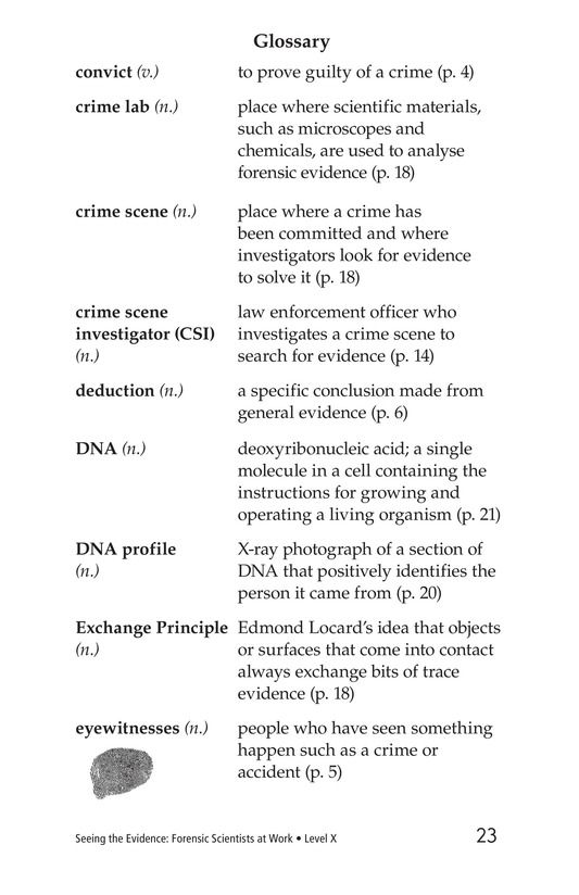 Book Preview For Seeing the Evidence: Forensic Scientists at Work Page 23