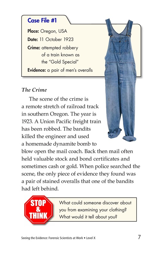 Book Preview For Seeing the Evidence: Forensic Scientists at Work Page 7