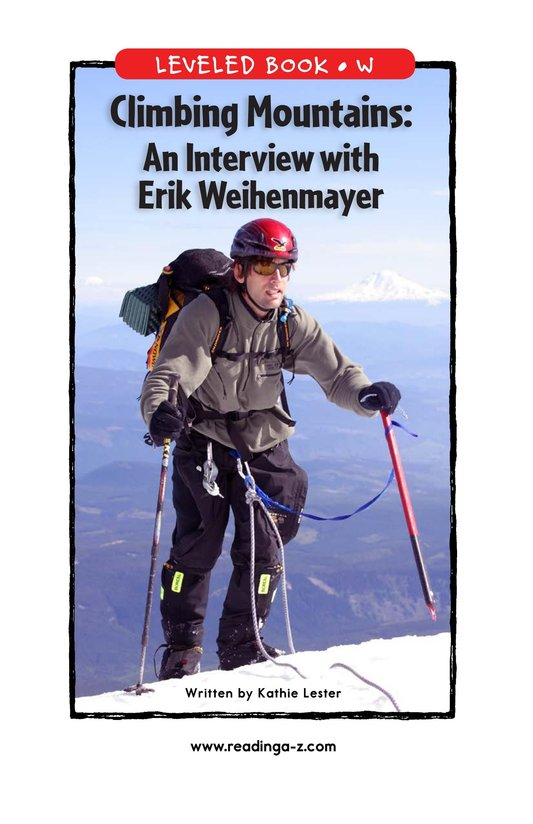 Book Preview For Climbing Mountains: An Interview with Erik Weihenmayer Page 1