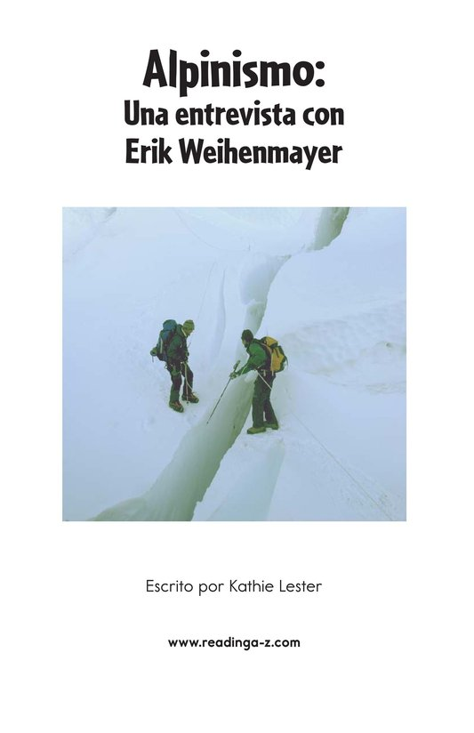 Book Preview For Climbing Mountains: An Interview with Erik Weihenmayer Page 2