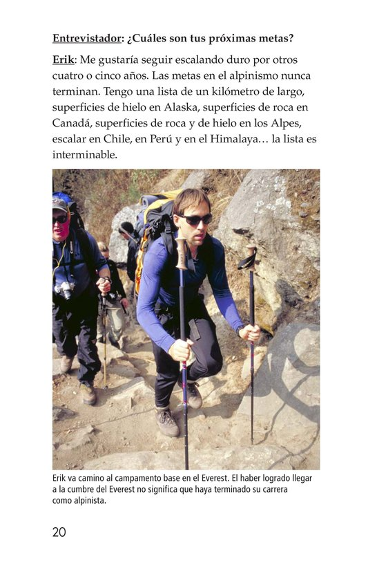 Book Preview For Climbing Mountains: An Interview with Erik Weihenmayer Page 20