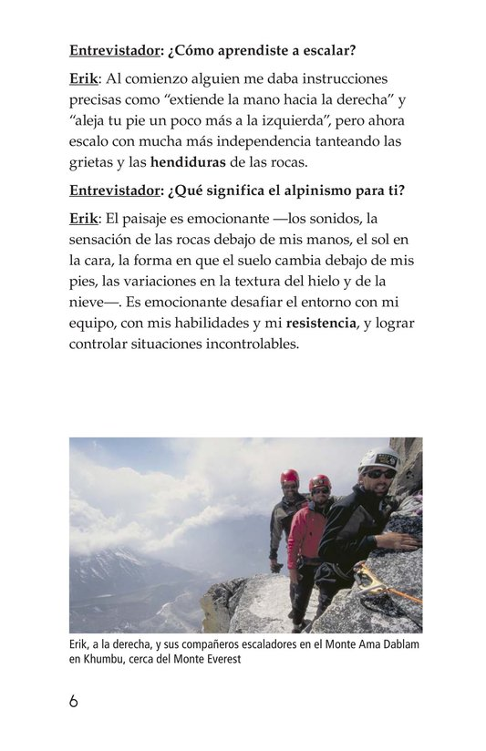 Book Preview For Climbing Mountains: An Interview with Erik Weihenmayer Page 6