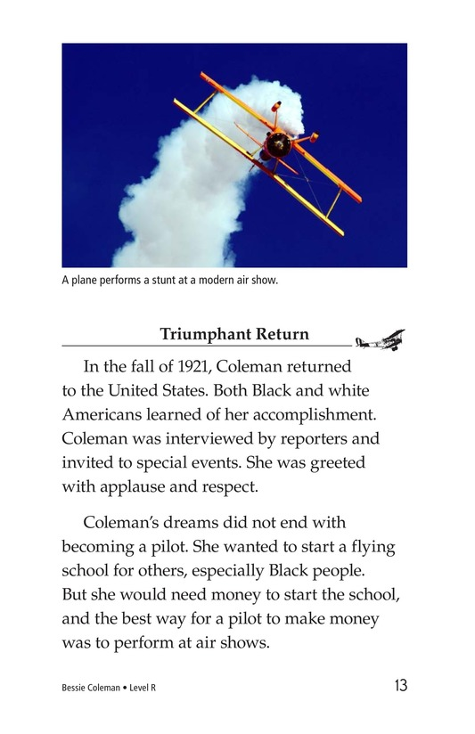 Book Preview For Bessie Coleman Page 13