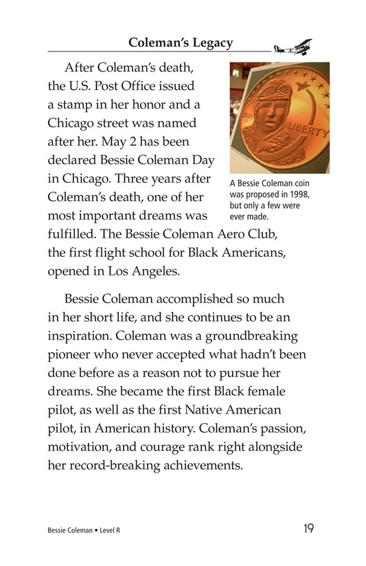 Book Preview For Bessie Coleman Page 19