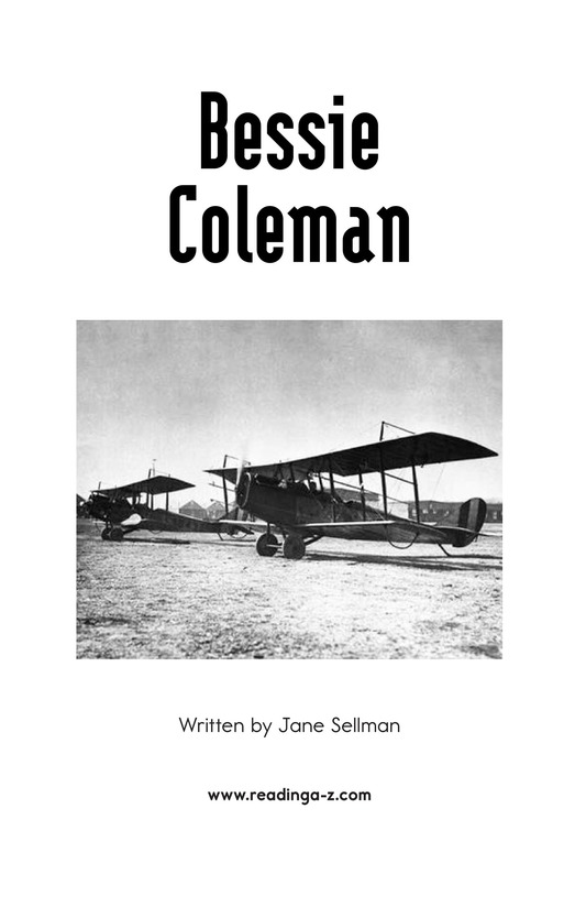 Book Preview For Bessie Coleman Page 2