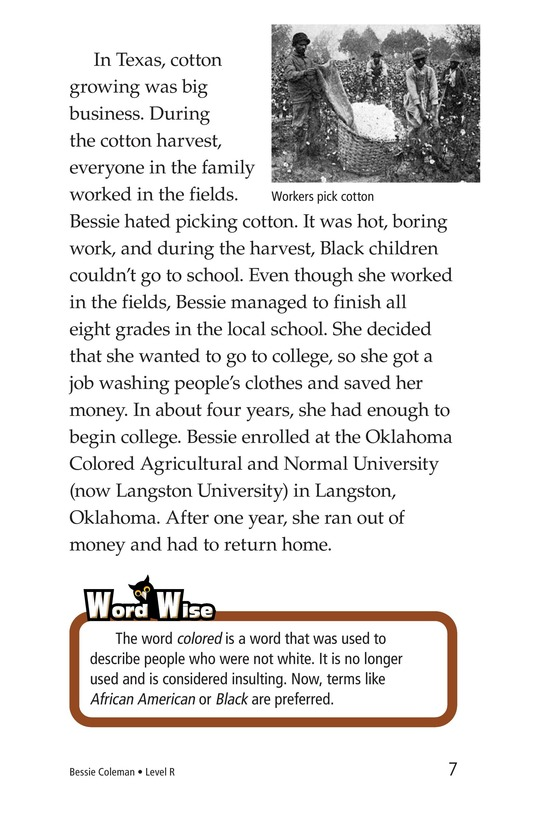 Book Preview For Bessie Coleman Page 7