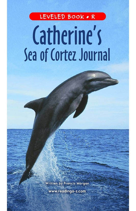 Book Preview For Charlene's Sea of Cortez Journal Page 1