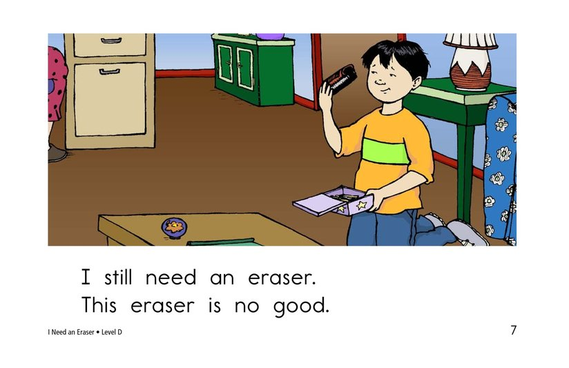 Book Preview For I Need An Eraser Page 7