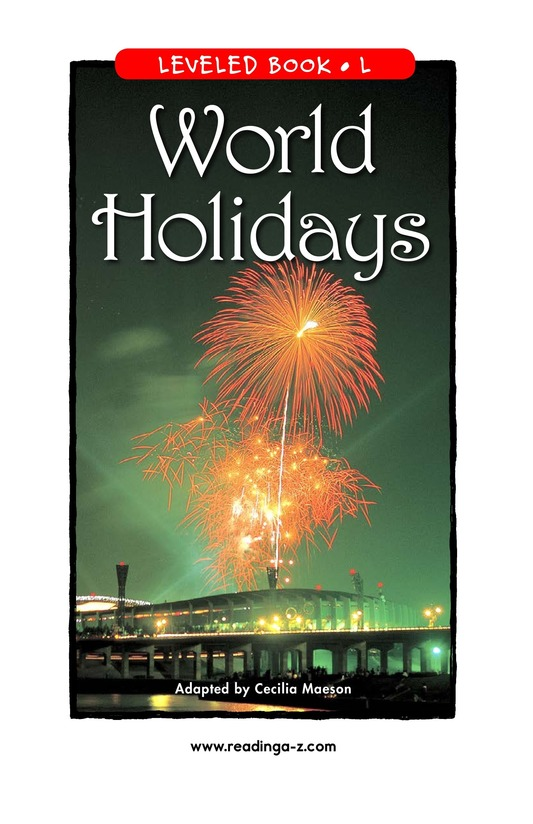 Book Preview For World Holidays Page 1
