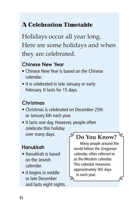 Book Preview For World Holidays Page 14