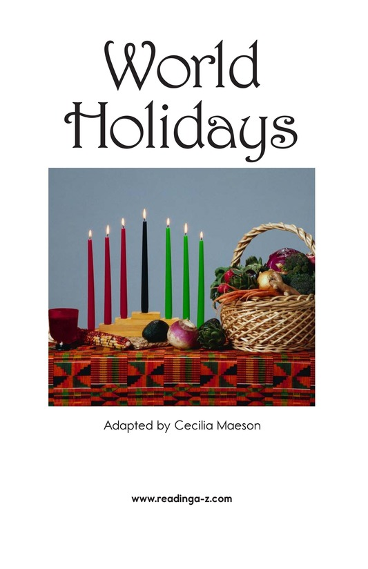 Book Preview For World Holidays Page 2