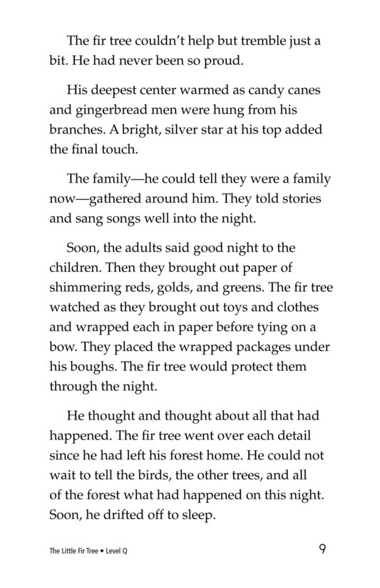 Book Preview For The Little Fir Tree Page 9