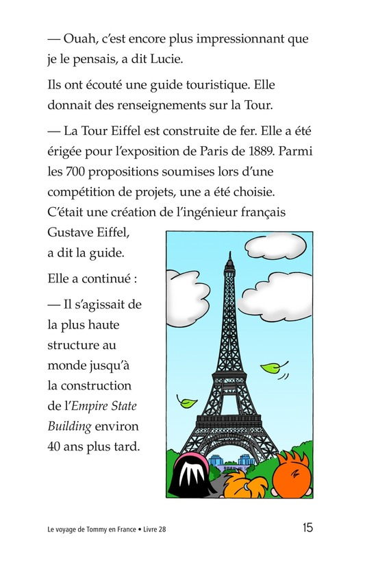 Book Preview For Tommy's Trip to France Page 15