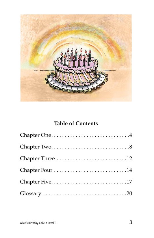 Book Preview For Alice's Birthday Cake Page 3