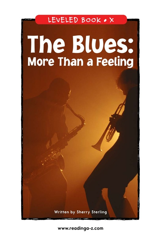 Book Preview For The Blues: More Than A Feeling Page 1