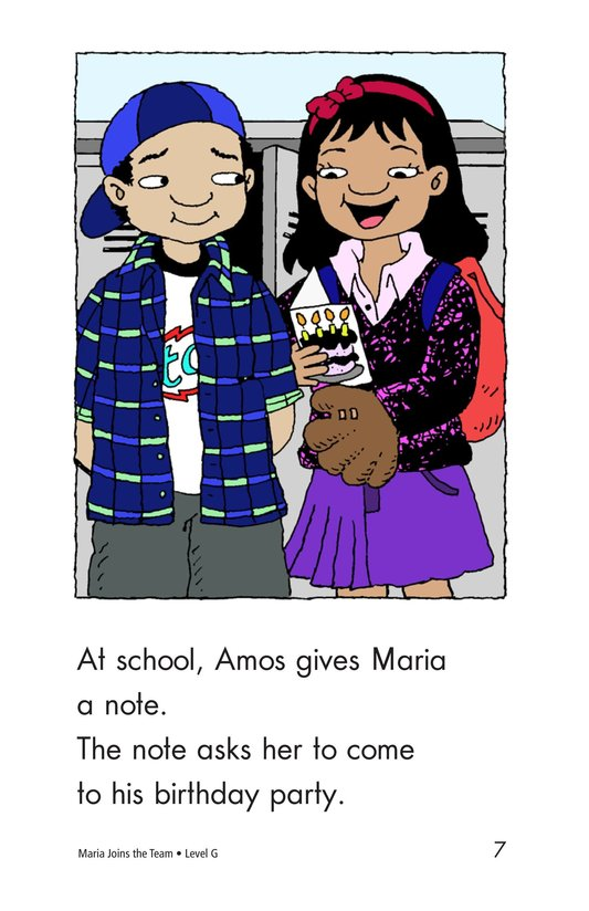 Book Preview For Maria Joins the Team Page 7