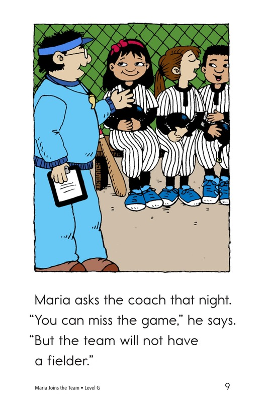 Book Preview For Maria Joins the Team Page 9