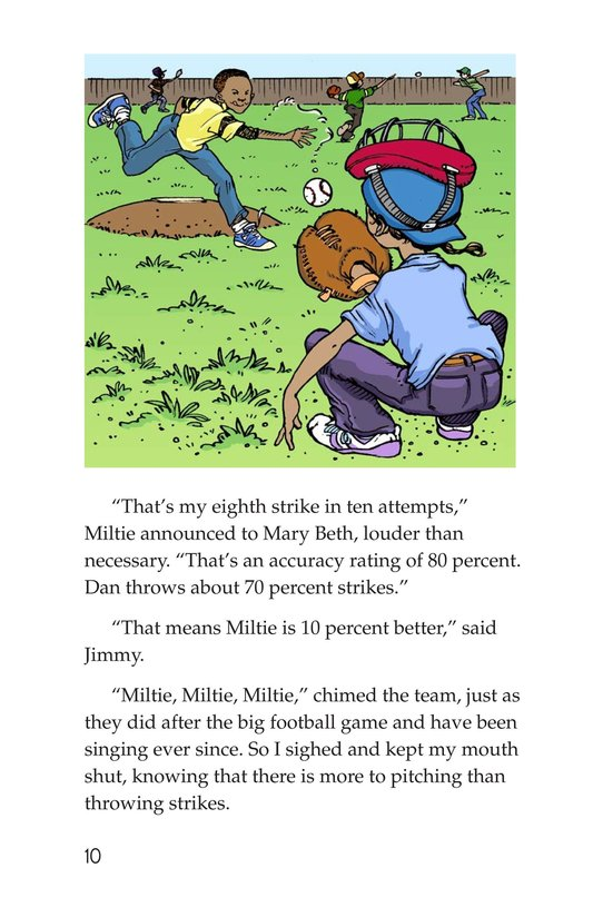 Book Preview For Miltie Math-head Takes the Mound Page 10