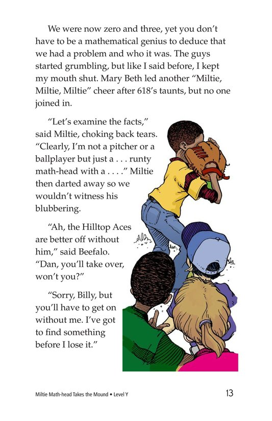 Book Preview For Miltie Math-head Takes the Mound Page 13