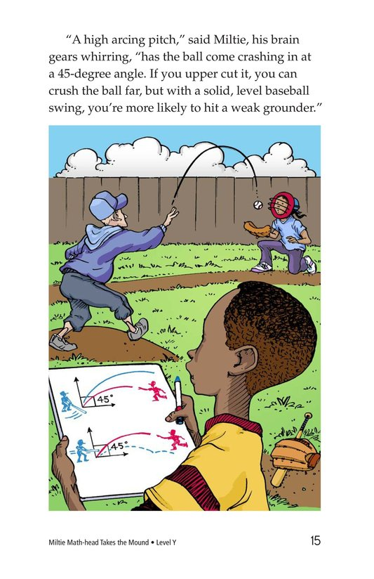 Book Preview For Miltie Math-head Takes the Mound Page 15