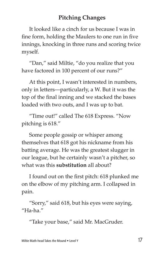 Book Preview For Miltie Math-head Takes the Mound Page 17