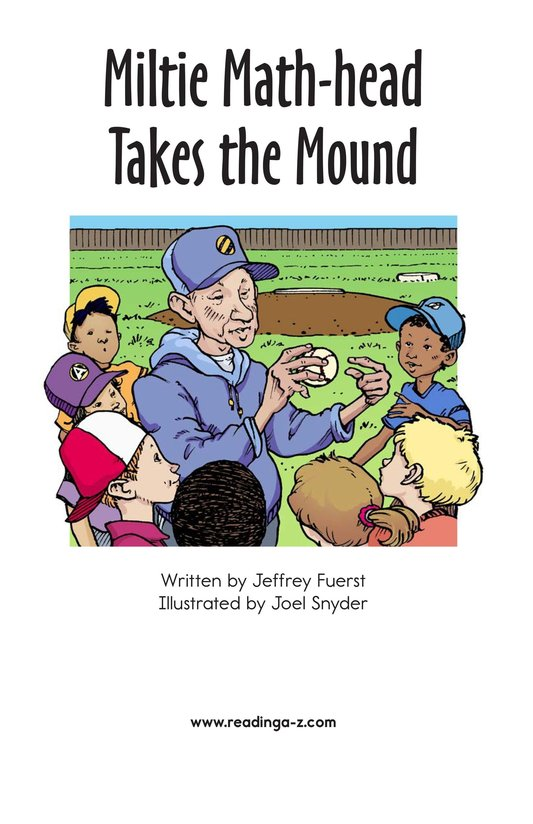 Book Preview For Miltie Math-head Takes the Mound Page 2