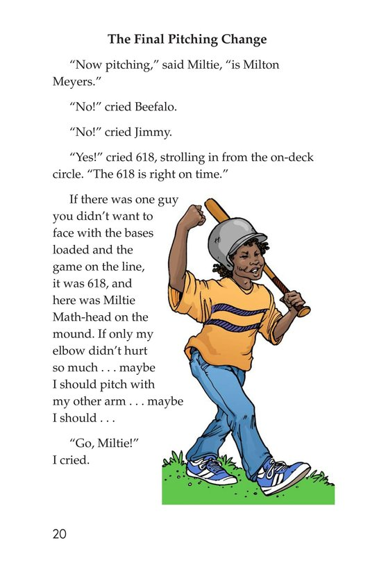 Book Preview For Miltie Math-head Takes the Mound Page 20