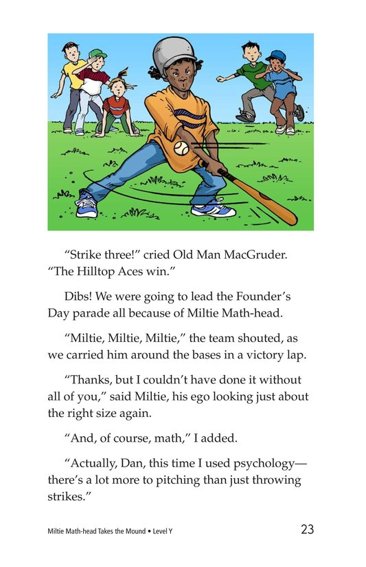 Book Preview For Miltie Math-head Takes the Mound Page 23